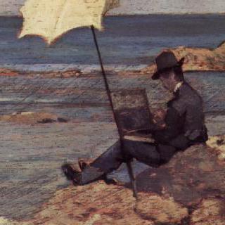 바닷가에서 그림 그리는 실베스트로 레가
