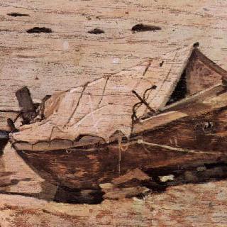 작은 배가 있는 해변