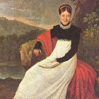나폴리 농부 복장을 한 카롤린 왕비의 초상