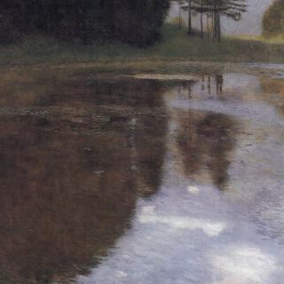 카머 성 공원의 잔잔한 호수