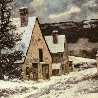 마을 어귀의 겨울