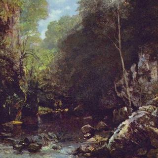 강물이 흐르는 바위계곡