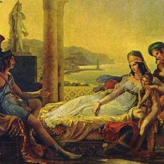 디도에게 트로이의 멸망에 대해 이야기하는 아이네이아스