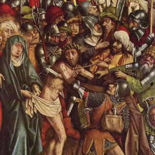 그리스도 수난의 제단화 : 옷을 빼앗기는 그리스도