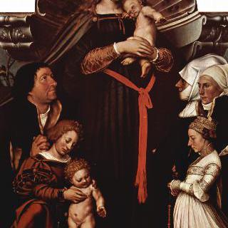바젤 시장 야코프 마이어의 성모 (다름슈타트의 성모) - 기부자의 초상이 함께 그려진