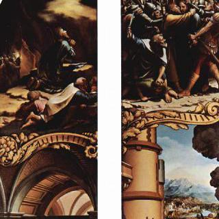 그리스도 수난의 제단화, 왼쪽 바깥쪽 패널