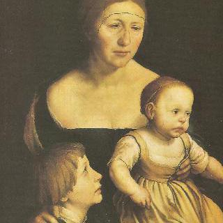 부인 엘스베트 빈젠슈토크와 장자 및 장녀 필리프와 카타리나의 초상