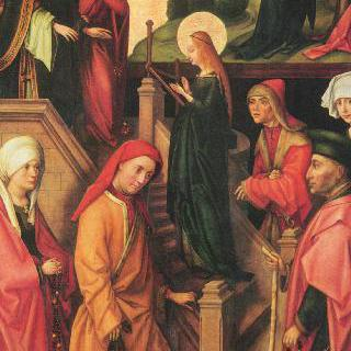 바인가르텐 제단화 : 성전으로 가는 마리아