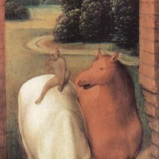 두 마리 말과 한 마리 원숭이의 우의화