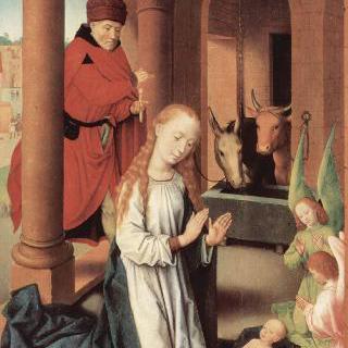 동방박사 제단화, 왼쪽 날개 : 그리스도의 탄생