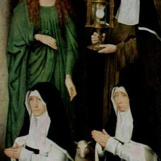 성아그네스, 성클라라와 함께있는 기부자 아흐너스 카셈브로트와 클라라 판휠선
