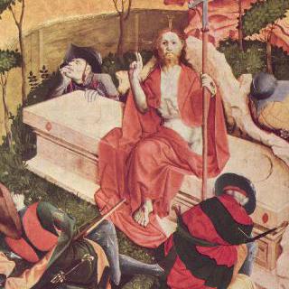 그리스도 수난 제단화, 오른쪽 안쪽 날개의 하단 : 그리스도의 부활