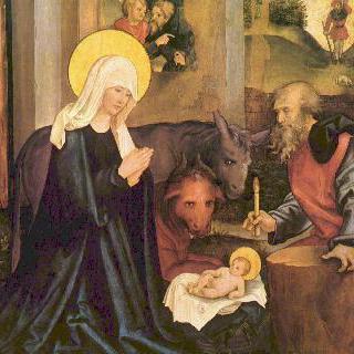 마리아 및 그리스도 수난의 제단화, 날개 부분 : 그리스도의 탄생