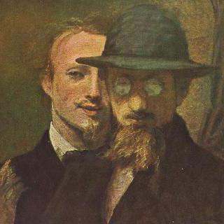 마레스의 자화상과 렌바흐의 초상 (2인 초상)