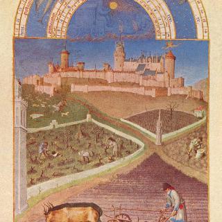 베리 공작의 호화로운 시도서 (時禱書) : 3월의 그림