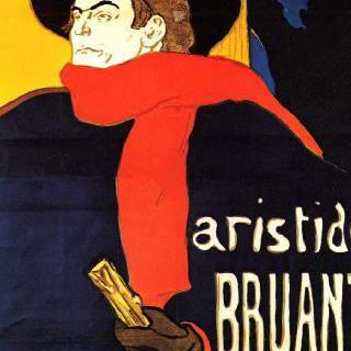카바레 앙바사되르에 출연하는 아리스티드 브뤼앙 (포스터)