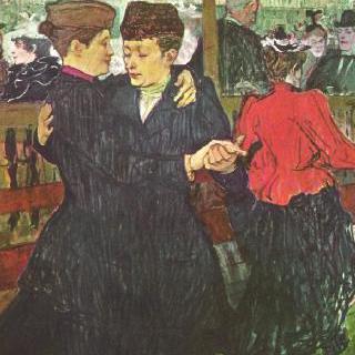 물랭 루주에서, 춤추는 두 여인