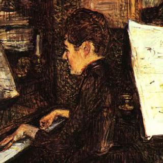 피아노를 치는 디오 양