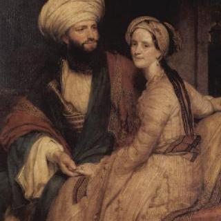 제임스 실크 버킹엄과 부인의 초상 이미지