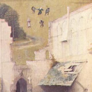 주현절의 세 폭 제단화, 왼쪽 날개 : 성 베드로와 기부자