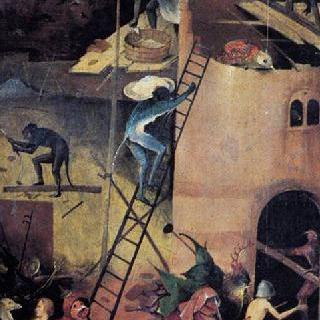 건초수레, 세폭화, 오른쪽 날개 : 지옥