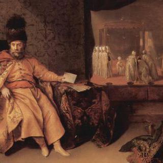 슈바르첸호른 남작, 요한 루돌프 슈미트의 초상 (1651년 술탄 궁전에서)