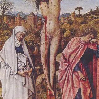마리아와 요한을 옆에 두고 십자가에 못 박힌 그리스도
