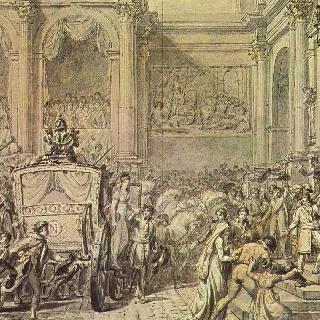 시청 앞에 도착하는 나폴레옹