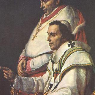 교황 비오 7세와 카프라라 추기경의 초상