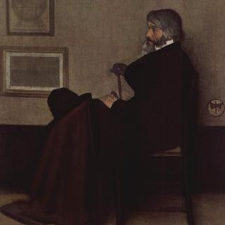 회색과 검정의 편곡, 토머스 칼라일의 초상