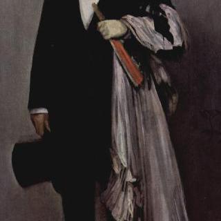 밝은 분홍과 검정의 편곡, 테오도르 뒤레의 초상