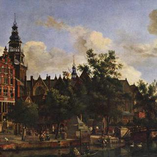 암스테르담의 아우데제이츠 포르뷔르흐발과 아우더 교회