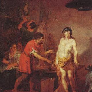 조각가의 작업실에 있는 메르쿠리우스