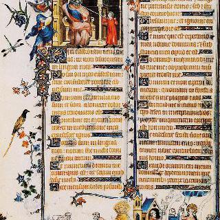 벨르빌의 성무일과서 : 사울 앞의 다윗