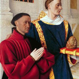성 스테파노와 함께 있는 에티엔 슈발리에의 초상