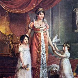 쥘리 보나파르트 왕비와 딸들의 초상