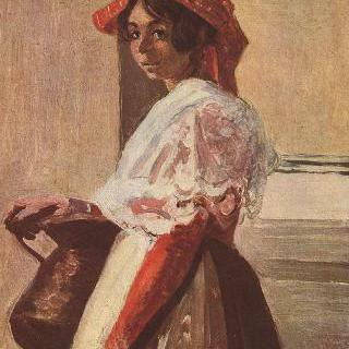 항아리를 든 이탈리아 여인