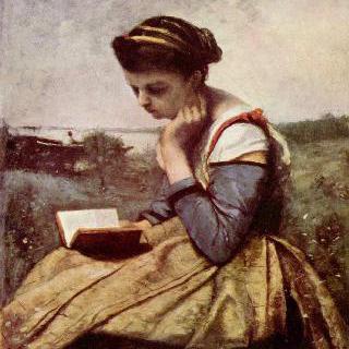 책 읽는 여인 이미지