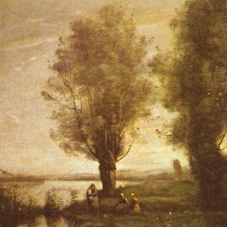 물가 버드나무 밑에서의 휴식