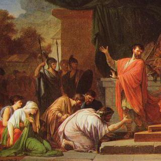 아이밀리우스 파울루스 앞의 페르세우스 왕