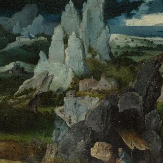 바위 풍경 속의 성 히에로니무스