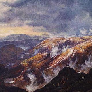베르겐 부근 뤼스호르네 산