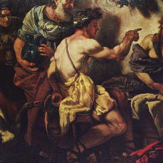 필레몬과 바우키스의 집에 있는 제우스와 헤르메스
