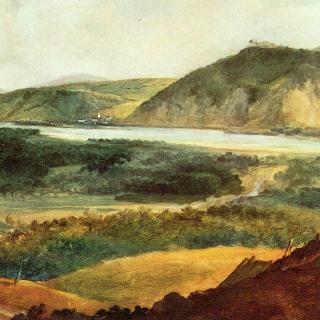 빈 근교의 도나우 강 풍경