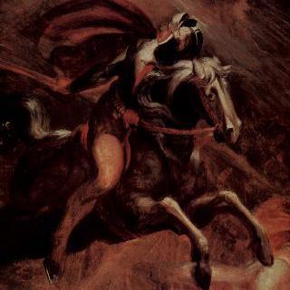 요정 왕 오베론에게서 달아나는 케라시무스와 후온