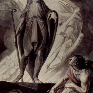 희생제를 올리는 오디세우스 앞에 나타난 테이레시아스