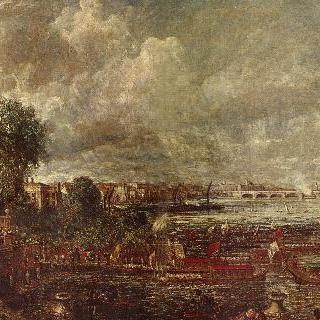 화이트홀 계단에서 본 워털루 다리, 1817년 6월 18일