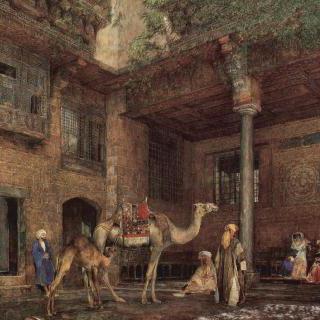 카이로에 있는 화가의 집 뜰