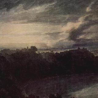 알바노 호수와 카스텔 간돌포, 일몰 풍경