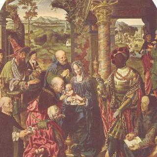 성 도미니쿠스와 성 누가가 함께 그려진 동방박사의 경배